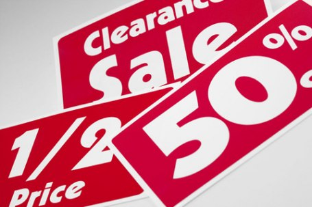 sales bargains