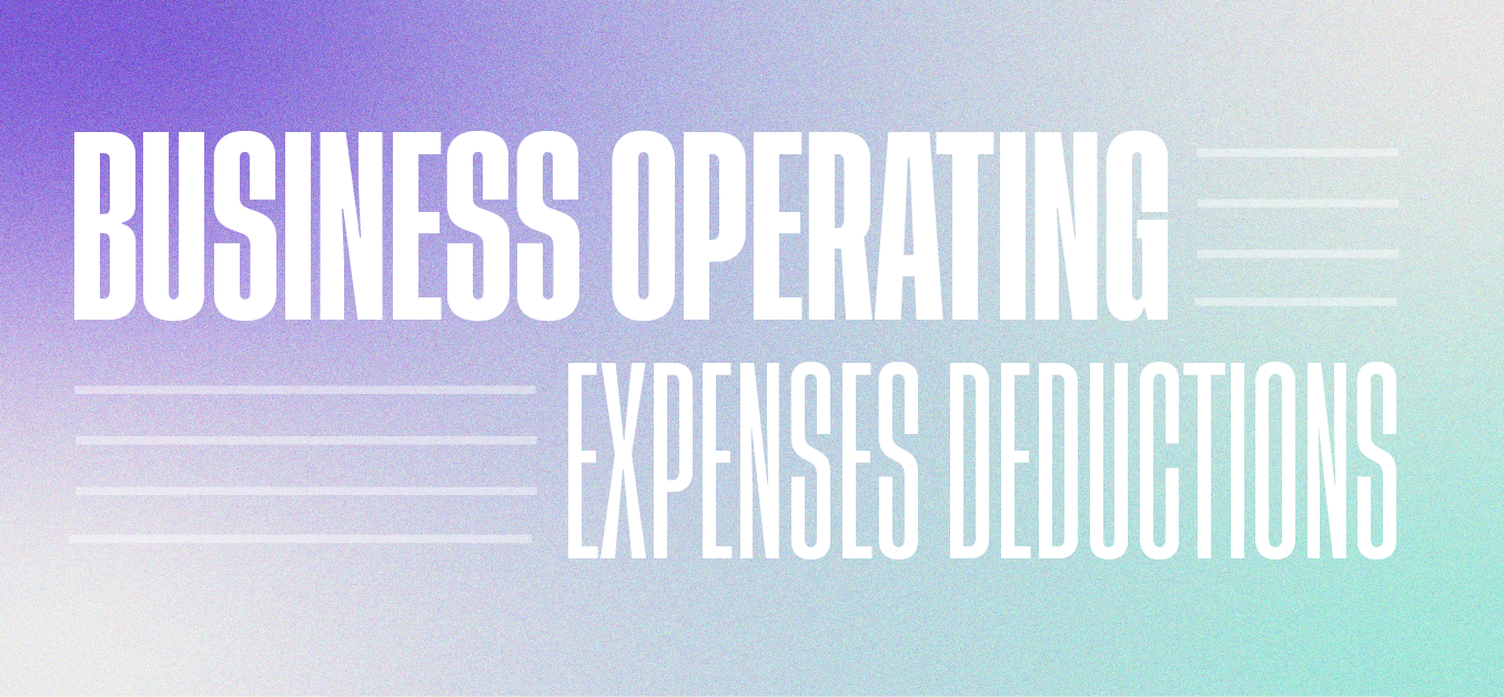 Business operating expense deductions