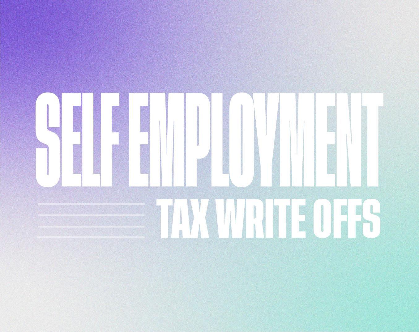 Self employment tax write offs