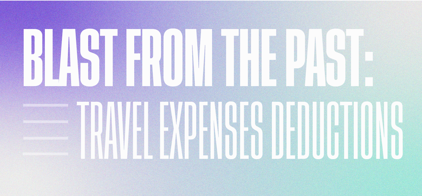 Travel expense deductions