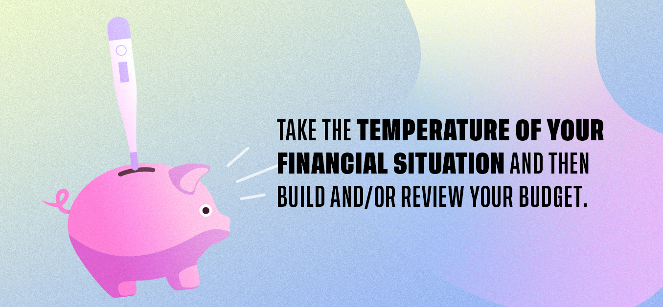 Take the temperature of your financial situation and then build and/or review your budget
