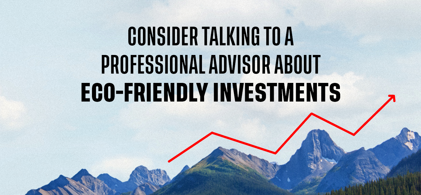 Consider talking to a professional advisor about eco-friendly investments