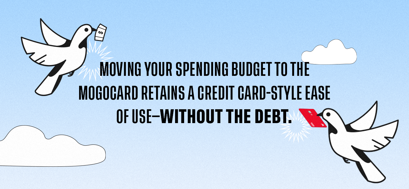 Moving your spending budget to the Mogocard retains a credit card-style ease of use - Without the debt.